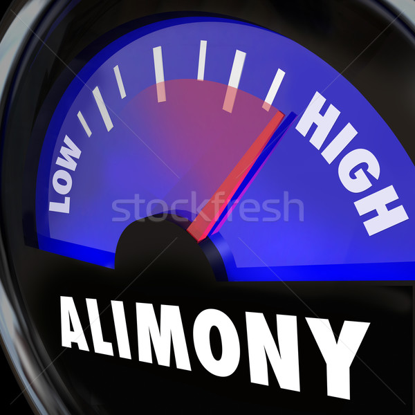 Alimony Gauge Level Spousal Support Financial Payment Amount Stock photo © iqoncept