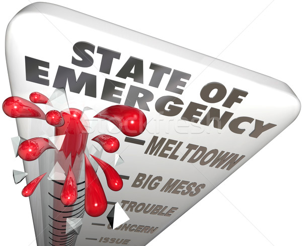 State of Emergency Thermometer Measure Problem Crisis Level Stock photo © iqoncept