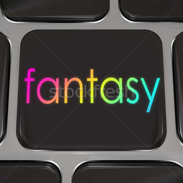 Fantasy Computer Keyboard Button Instant Dream Come True Stock photo © iqoncept