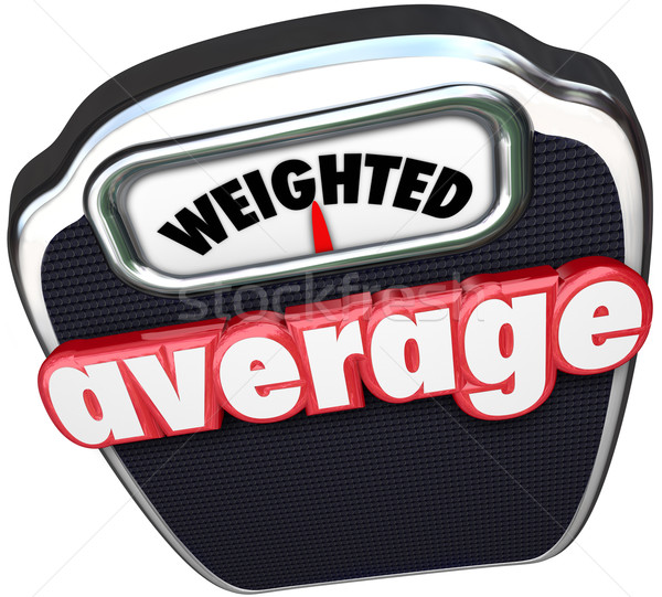 Weighted Average 3d Words Scale Medium Standard Common Typical Stock photo © iqoncept