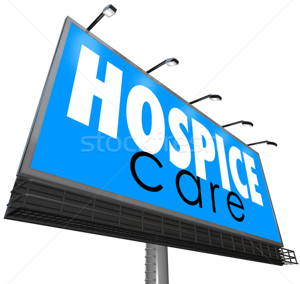 Hospice Care Billboard Advertise Home Nursing Medical Service Stock photo © iqoncept