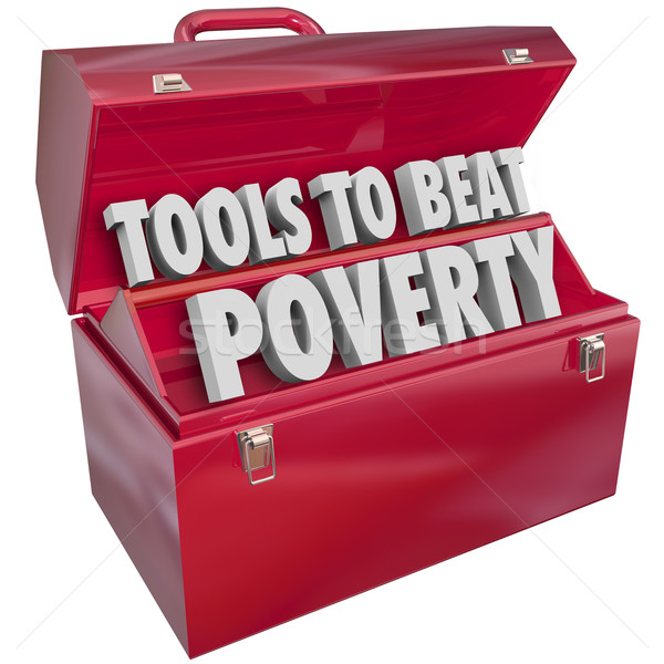 Tools to Beat Poverty Hunger Poor Living Conditions Toolbox Stock photo © iqoncept