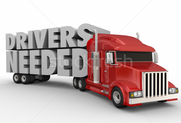 Drivers Needed Semi Truck Trailer Company Hiring Jobs Workers Stock photo © iqoncept