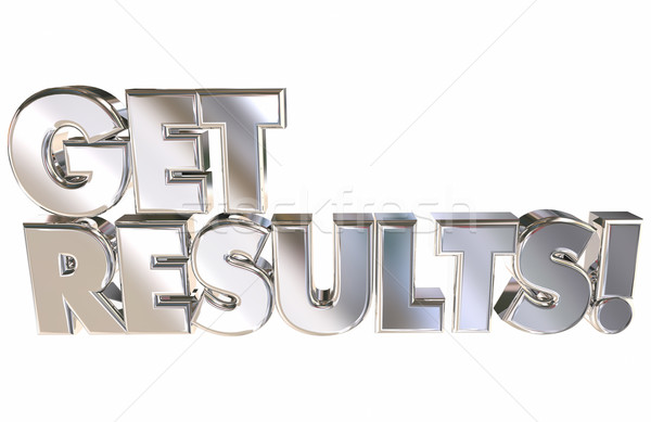 Get Results Successful Achievement Goal Reached 3d Words Animati Stock photo © iqoncept