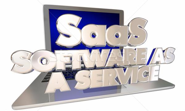 Software servizio computer laptop online digitale Foto d'archivio © iqoncept