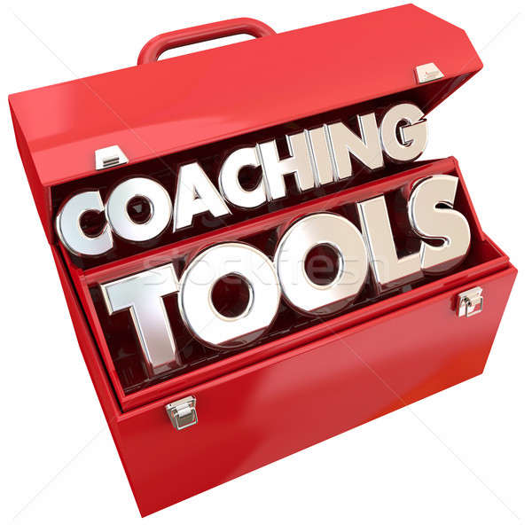 Coaching Tools Team Building Leadership Toolbox 3d Illustration Stock photo © iqoncept
