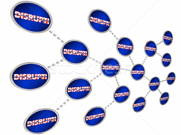 Disrupt Chain Reaction Change Innovate Evolve 3d Illustration Stock photo © iqoncept