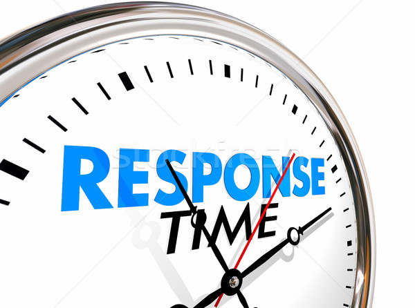 Response Time Clock Fast Speed Service Attention 3d Illustration Stock photo © iqoncept
