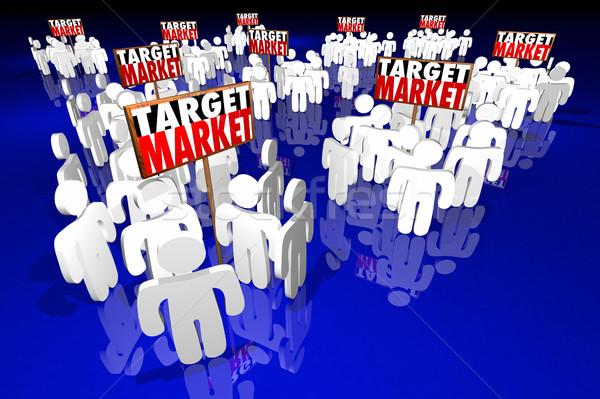 Target markt mensen klanten klanten 3d illustration Stockfoto © iqoncept