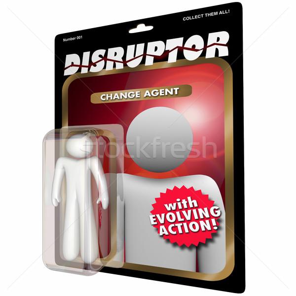 Disruptor Change Agent Action Figure Disruption 3d Illustration Stock photo © iqoncept