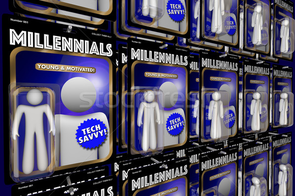 Millennials New Generation Youth Action Figures 3d Illustration Stock photo © iqoncept