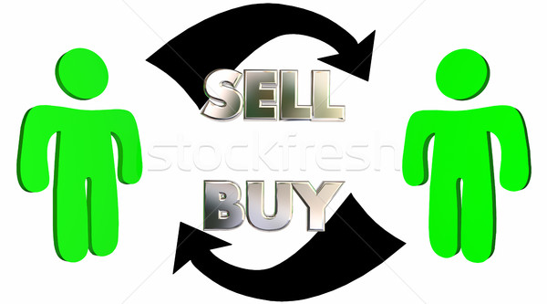 Sell Buy Sales Process Customer Close Deal 3d Illustration Stock photo © iqoncept