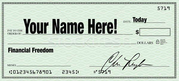 Financial Freedom - Your Name on Blank Check Stock photo © iqoncept