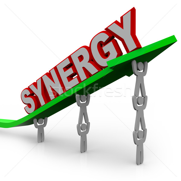 Synergy - Teamwork People Partner for Combined Strength Stock photo © iqoncept