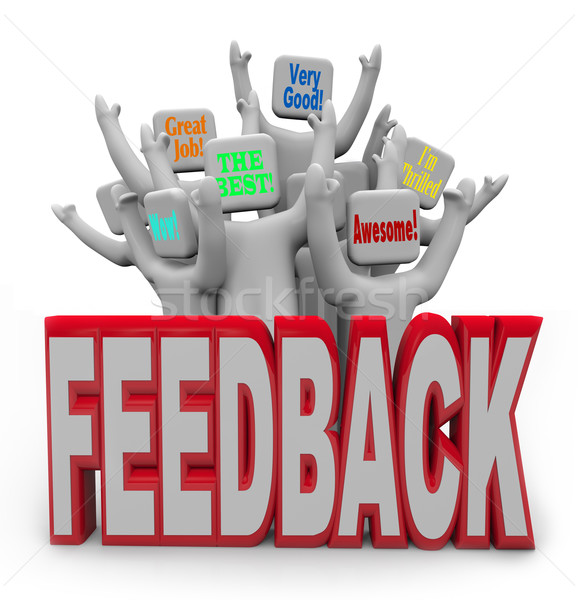 Pleased Satisfied Customers People Giving Positive Feedback  Stock photo © iqoncept