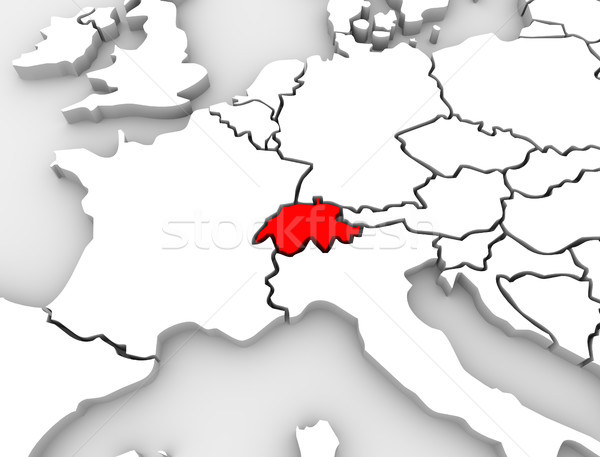 Switzerland Country Abstract Map Europe Countries Stock photo © iqoncept