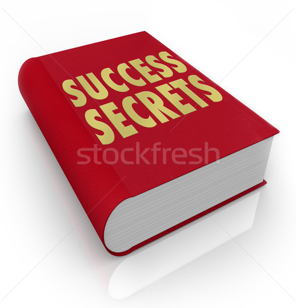 Success Secrets Book Instructions Manual Advice Stock photo © iqoncept