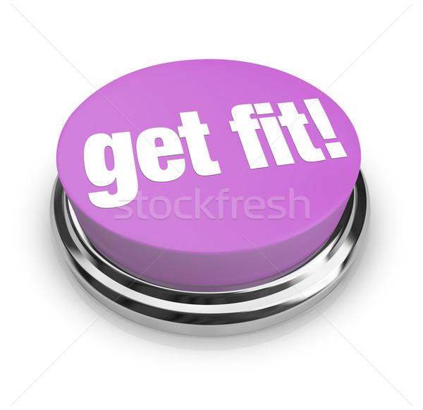 Get Fit - Purple Button Stock photo © iqoncept