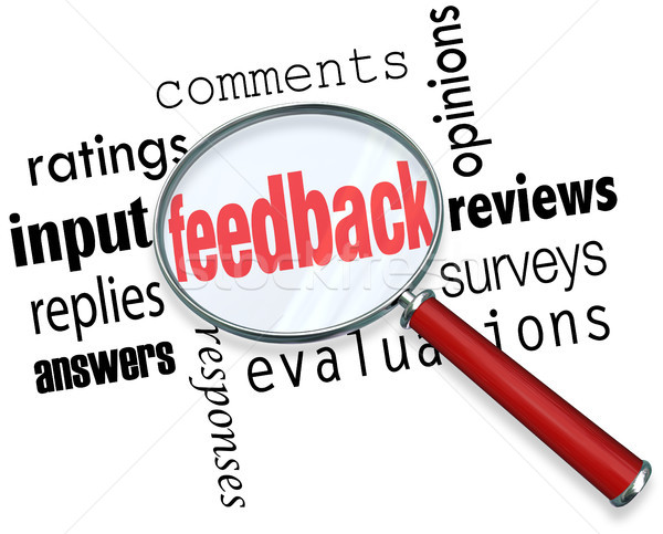 Feedback Magnifying Glass Input Comments Ratings Reviews Stock photo © iqoncept