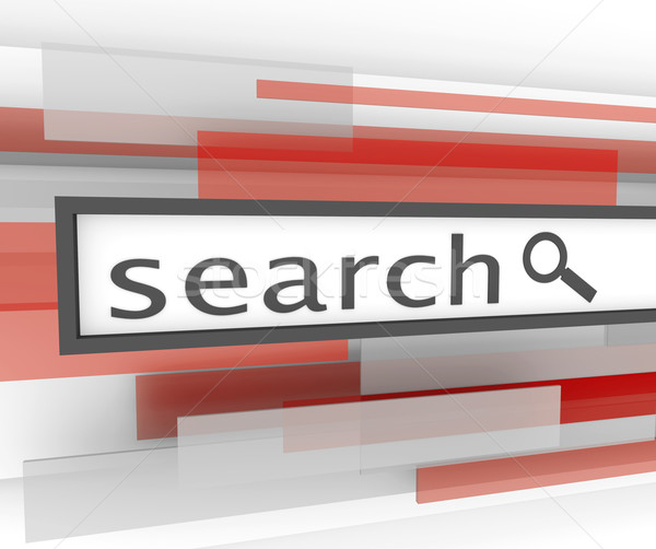 Search Bar - Website Magnifying Glass Stock photo © iqoncept