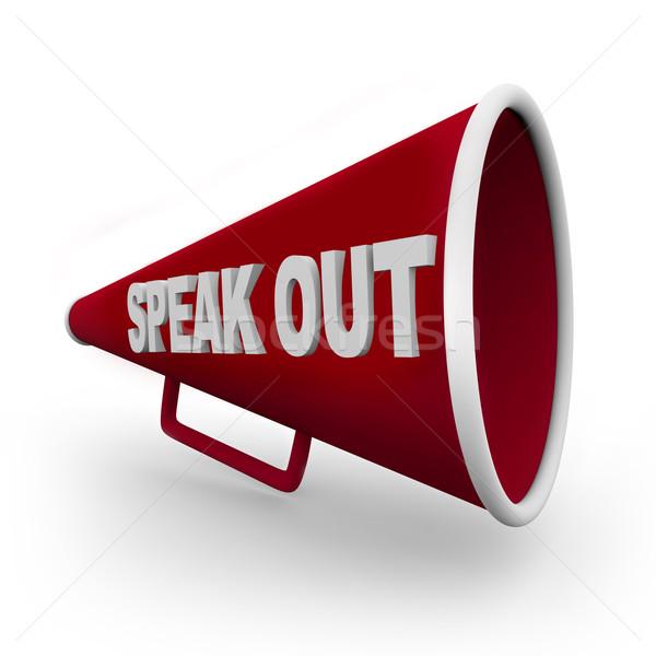 Sprechen heraus rot Worte Hintergrund schreiben Stock foto © iqoncept