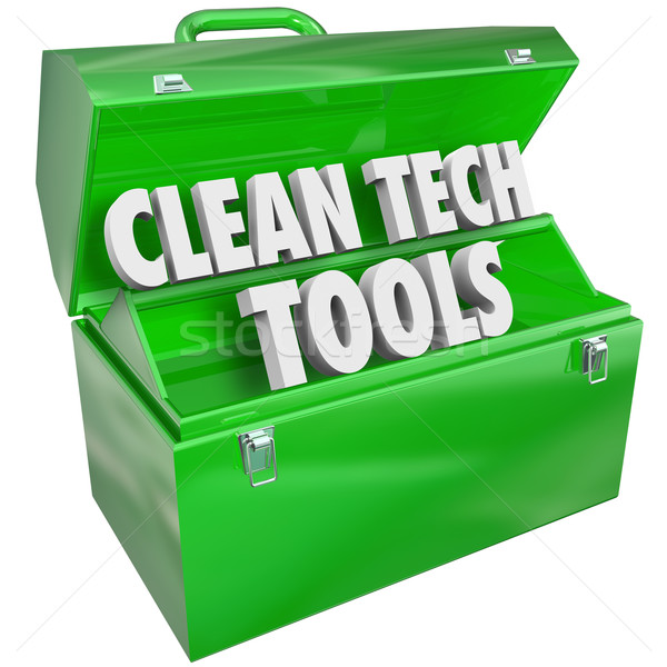 Stock photo: Clean Tech Tools Toolbox Renewable Power Energy Resources