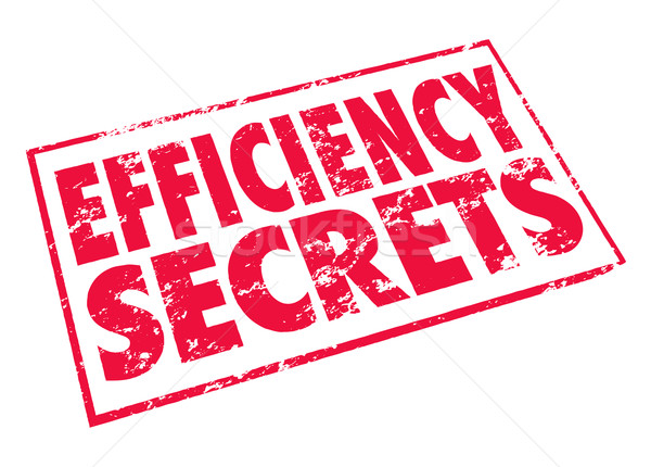 Efficiency Secrets Red Stamp Classified Confidential Tips Advice Stock photo © iqoncept