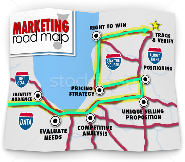 Marketing Road Map Directions Success Launch New Product Busines Stock photo © iqoncept