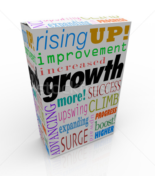 Growth Increase Improve Rise Up More Success Product Package Box Stock photo © iqoncept