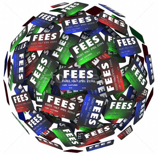 Illetékek hitelkártyák rejtett kölcsön pénz szavak Stock fotó © iqoncept