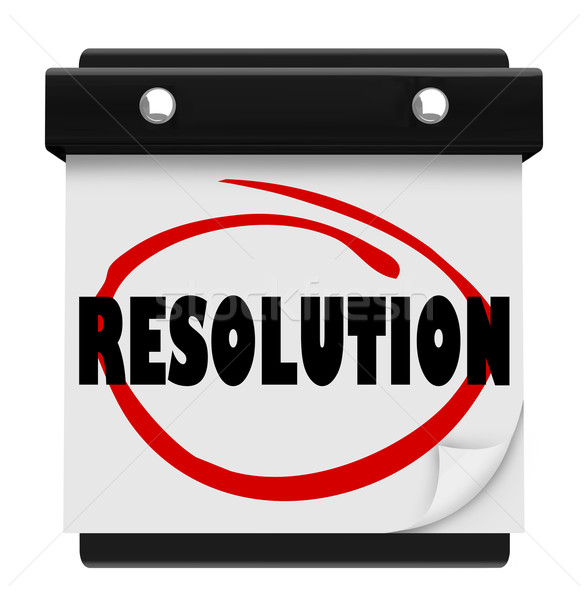 Resolution New Year Promise Vow Achieve Goal Resolved Mission Ca Stock photo © iqoncept