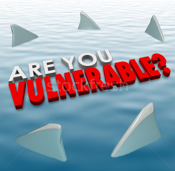 Are You Vulnerable Shark Fins Danger Risk Security Safety Stock photo © iqoncept