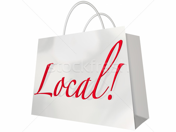 Local Shopping Bag Home Town Savings Sale Stock photo © iqoncept