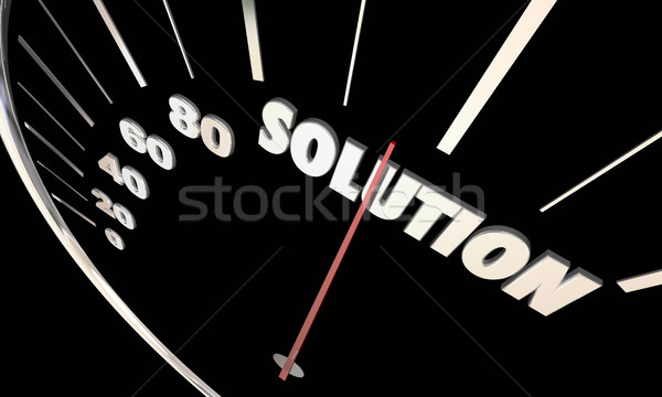 Solution Speedometer Problem Solved Fix Repaired 3d Illustration Stock photo © iqoncept