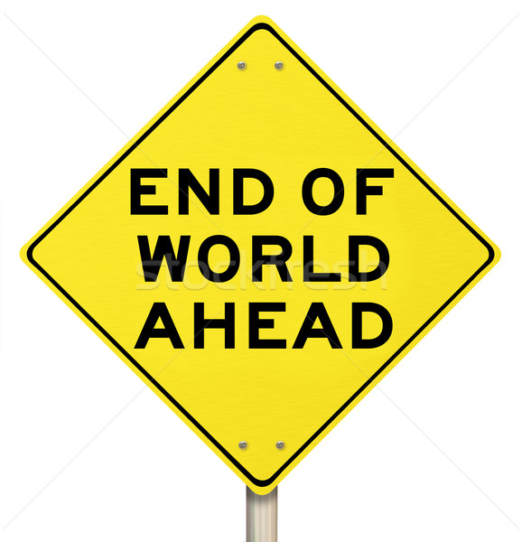 End of Days Apocalypse - Yellow Warning Sign Stock photo © iqoncept