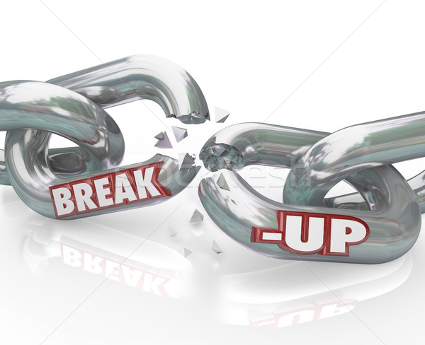 Break-Up Broken Links Chain Separation Divorce Stock photo © iqoncept