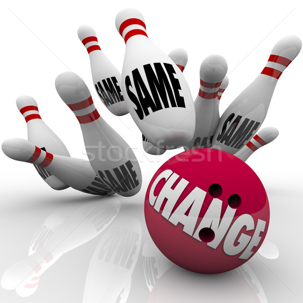 Change Bowling Ball Strike Shaking Up for Adapting  Stock photo © iqoncept