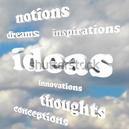 Stock photo: Hope Words in Sky Faith Belief Inspire Aspirations