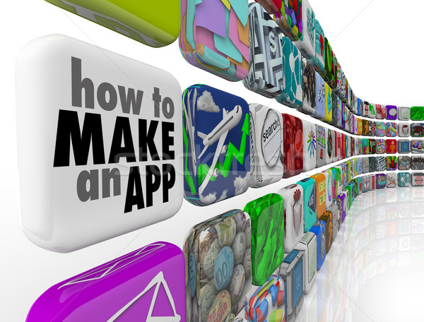 How to Make an App Software Tile Wall of Apps Icons Stock photo © iqoncept