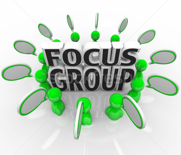 Focus group marketing discussione persone sondaggio Foto d'archivio © iqoncept