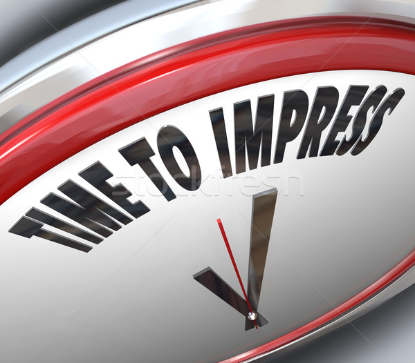 Time to Impress Clock Good Impression Persuasion Stock photo © iqoncept