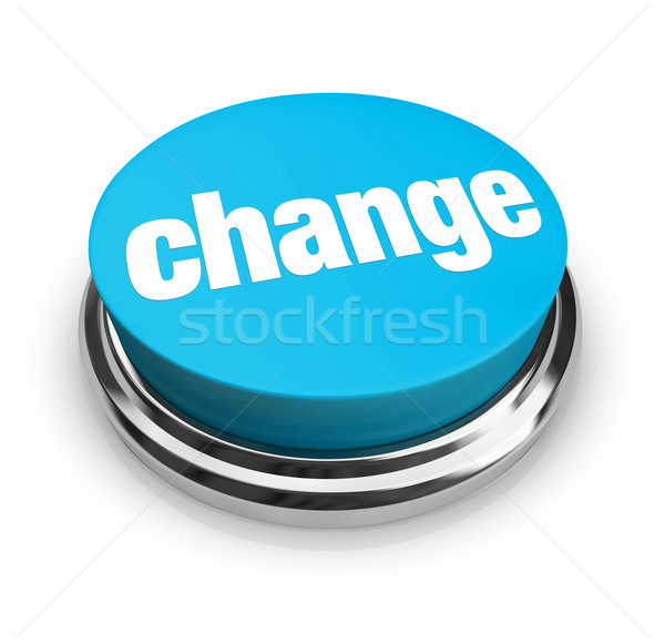 Change - Blue Button Stock photo © iqoncept