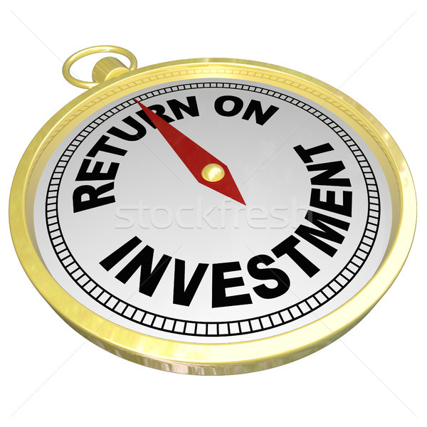 Return on Investment Compass Pointing to ROI Money Choices Stock photo © iqoncept