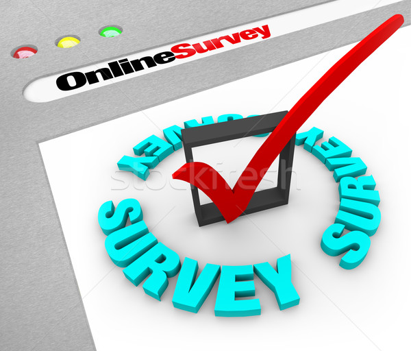 On-line exame teia tela navegador janela Foto stock © iqoncept