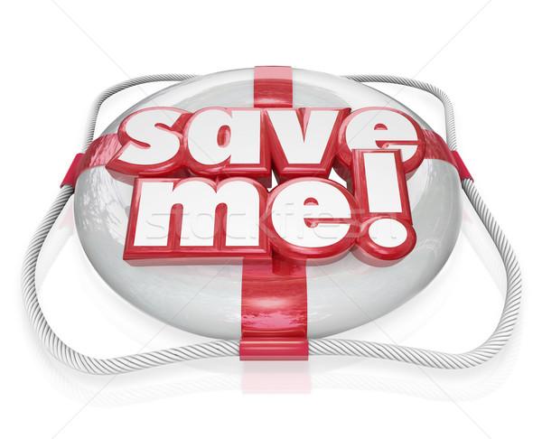 Opslaan me leven woorden sos redding Stockfoto © iqoncept