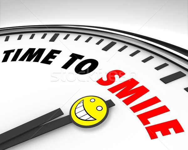 Time to Smile - Clock Stock photo © iqoncept