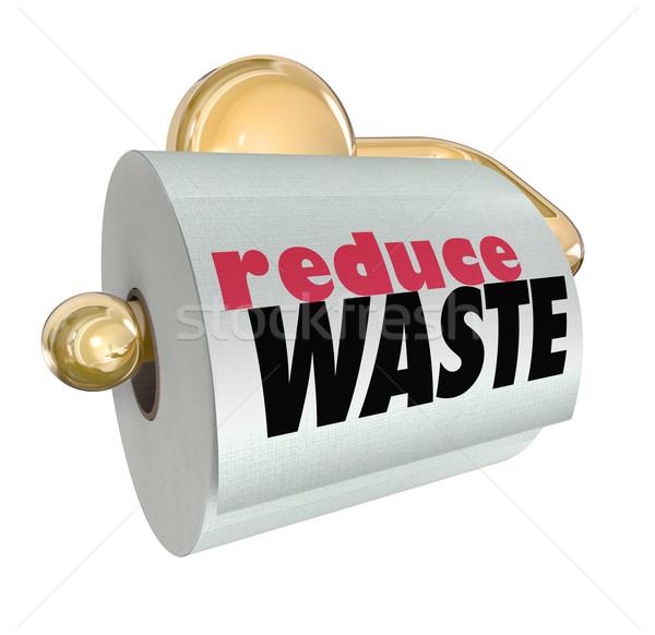 Déchets moins ressources coupé trash ordures Photo stock © iqoncept