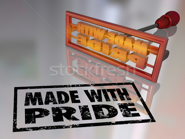 Made With Pride Branding Iron Proud Mark Handcraft Product Stock photo © iqoncept