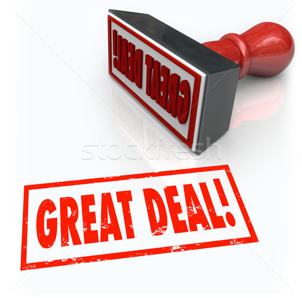 Great Deal Stamp Special Sale Bargain Discount Buy Stock photo © iqoncept