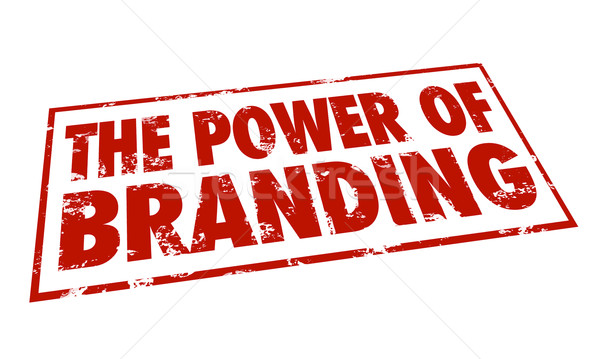 Power of Branding Stamp Red Ink Loyalty Recognition Identity Stock photo © iqoncept
